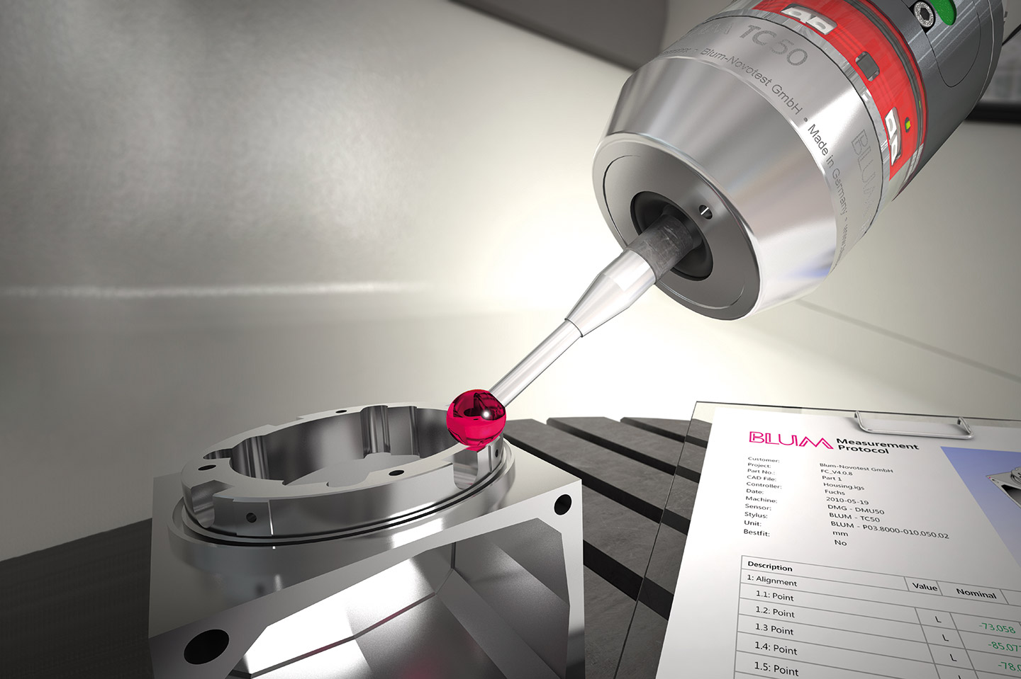 BLUM touch probes for machine tools