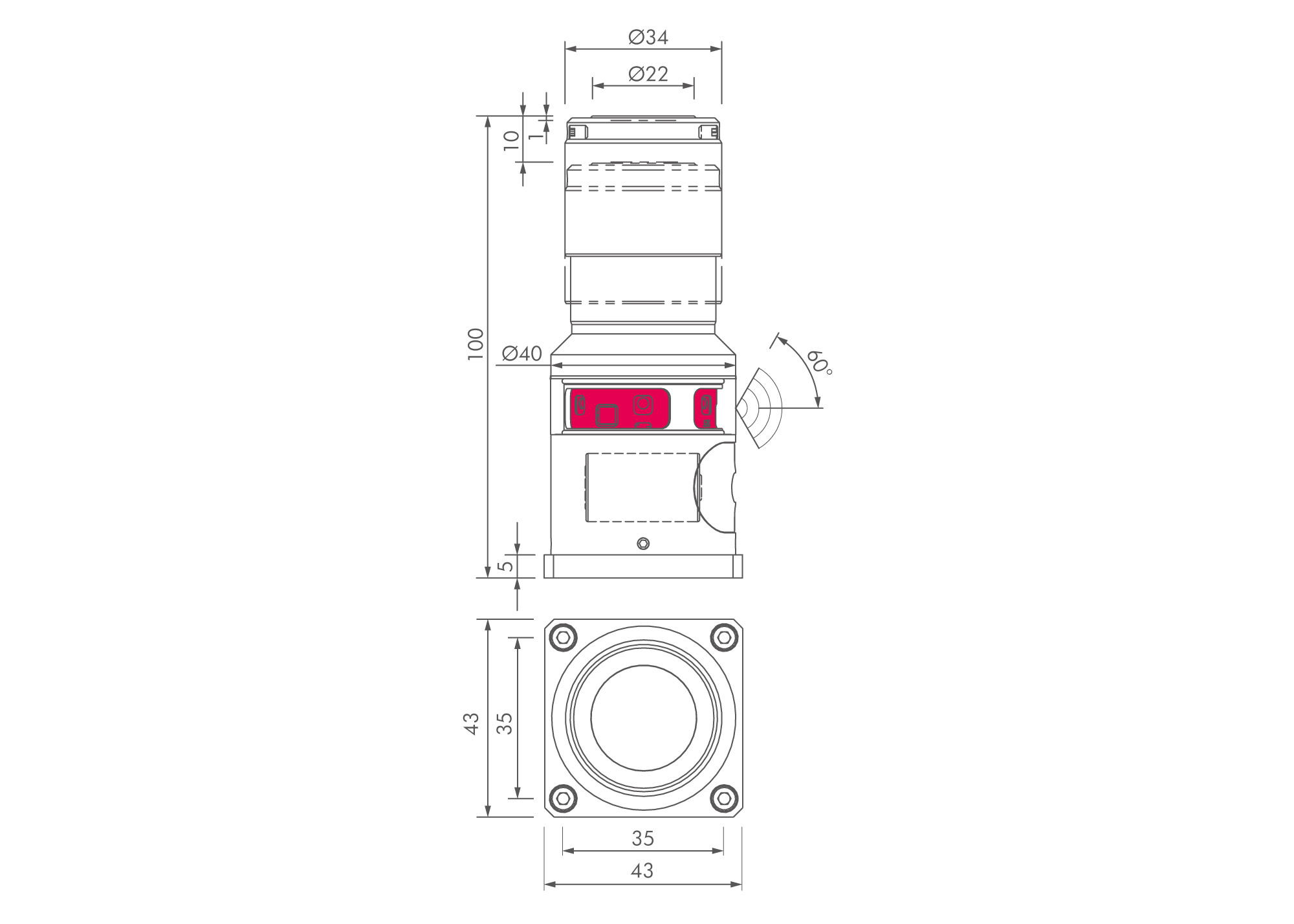 Z Nano Series Tools And Measuring Circuit Diagrams Technical Drawing Of Ir Tool Probe For Breakage Detection