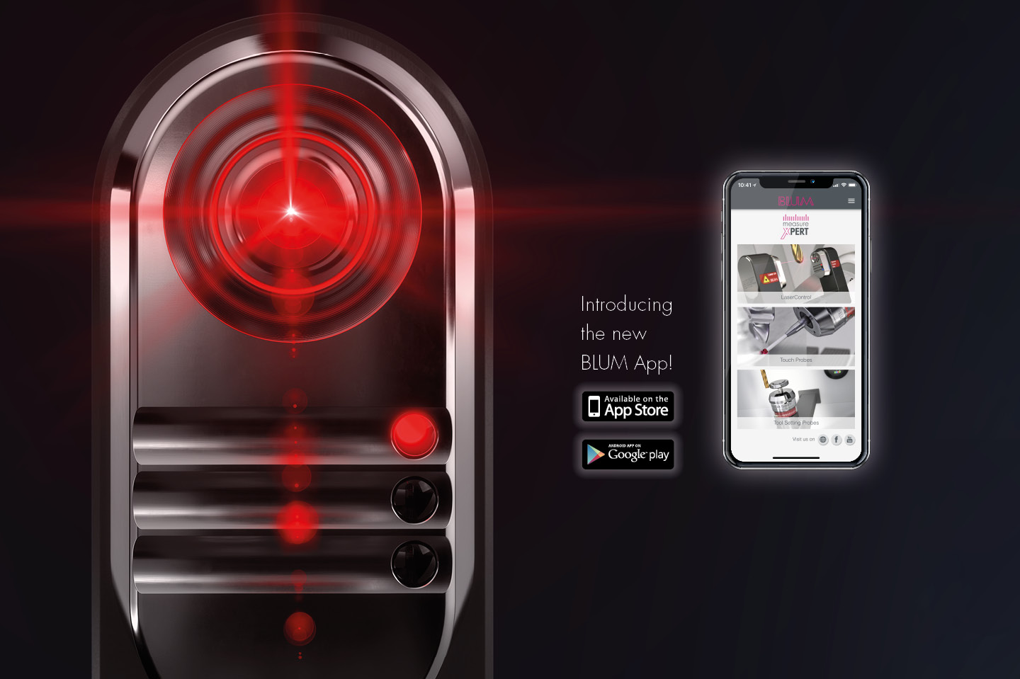 App for laser tool setters and touch probes by BLUM