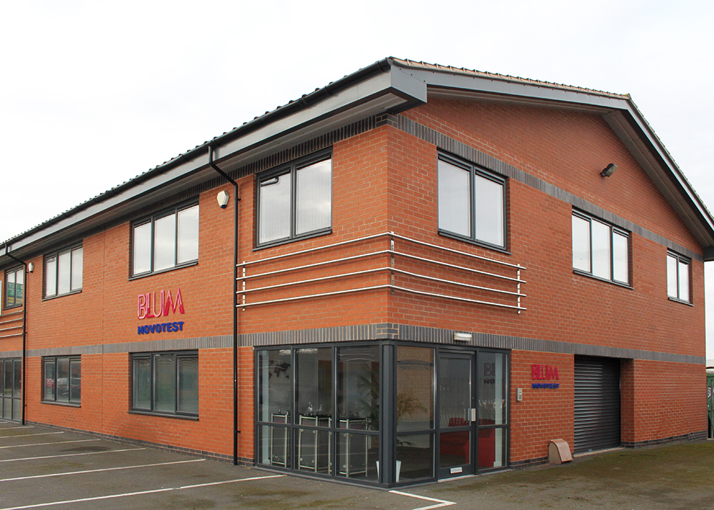Blum-Novotest subsidiary building in the UK