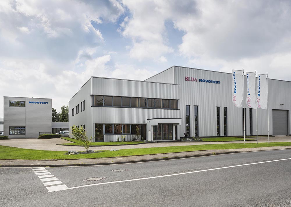 Blum-Novotest NOVOTEST Test Engineering division building in Willich